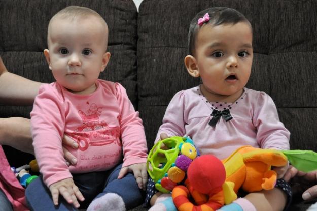 Clara e a prima Ana Laura